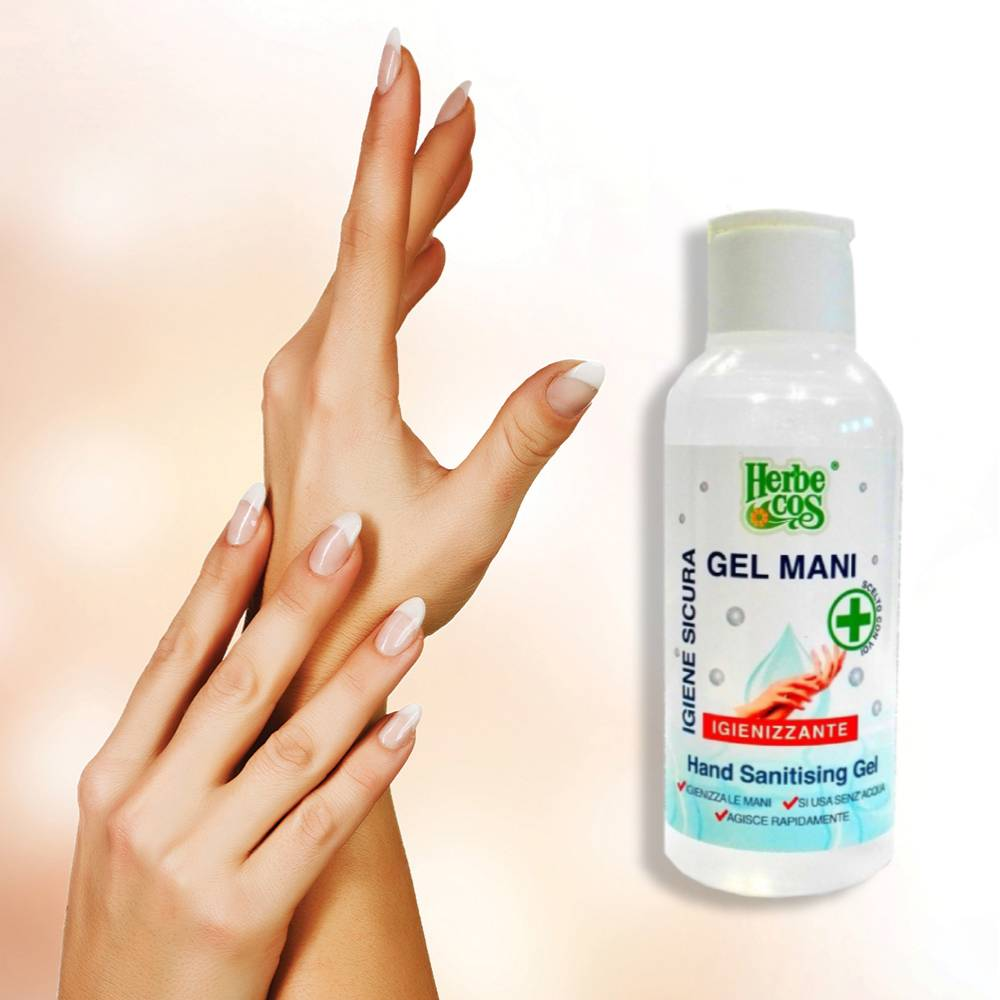 Gel igienizzante mani 4pz. 120ml antibatterico Herbe cos Igiene mani senza acqua foto 3