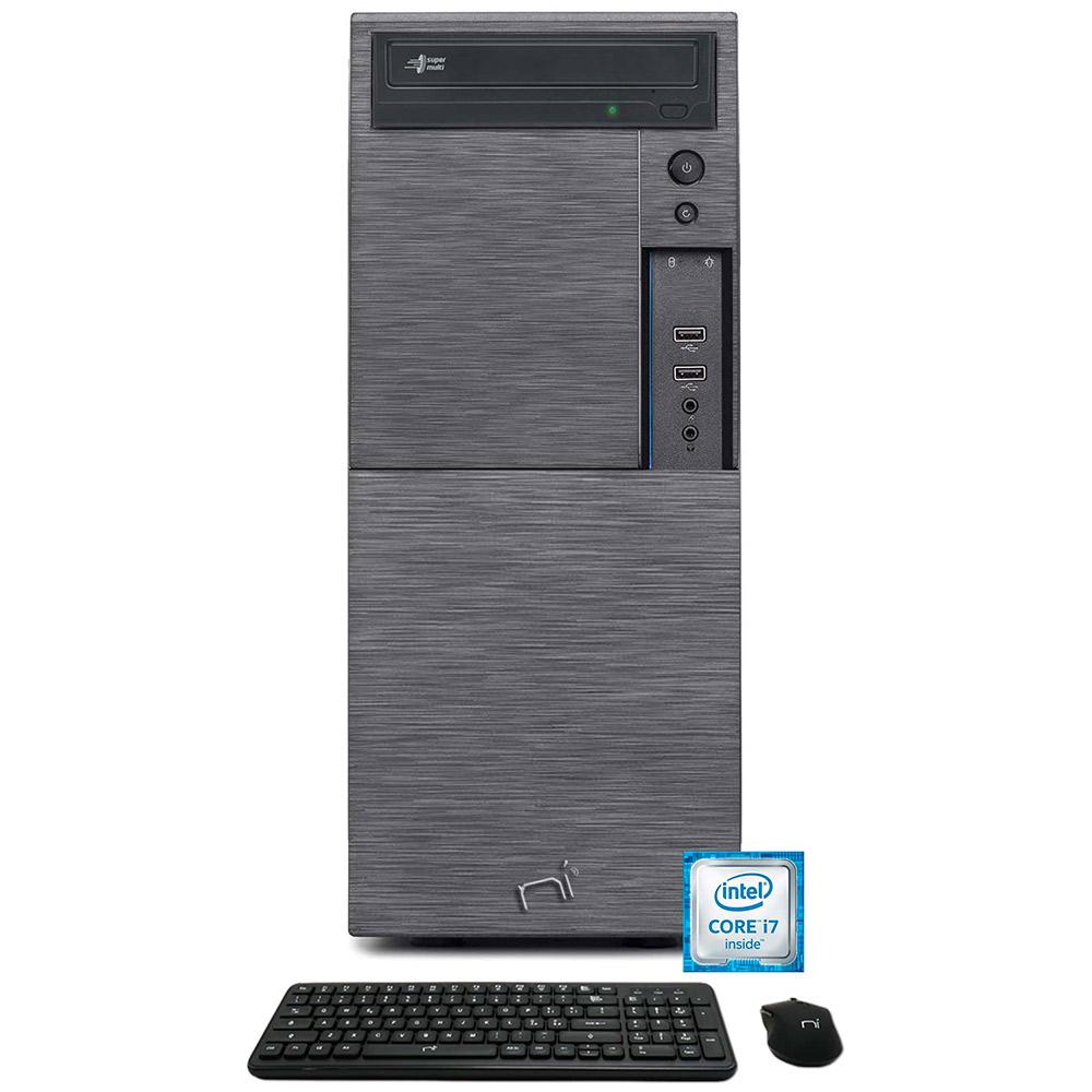 Computer pc fisso i7 quad core windows 10 pro 16gb ram, ssd 240gb, hd 1tb, wifi.