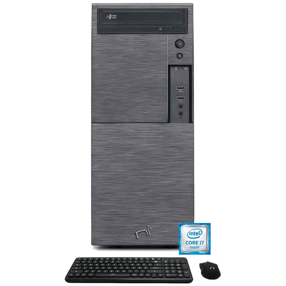 Computer Pc fisso i7 quad core windows 10 pro 16gb ram, ssd 240gb, hd 1tb, WiFi foto 2