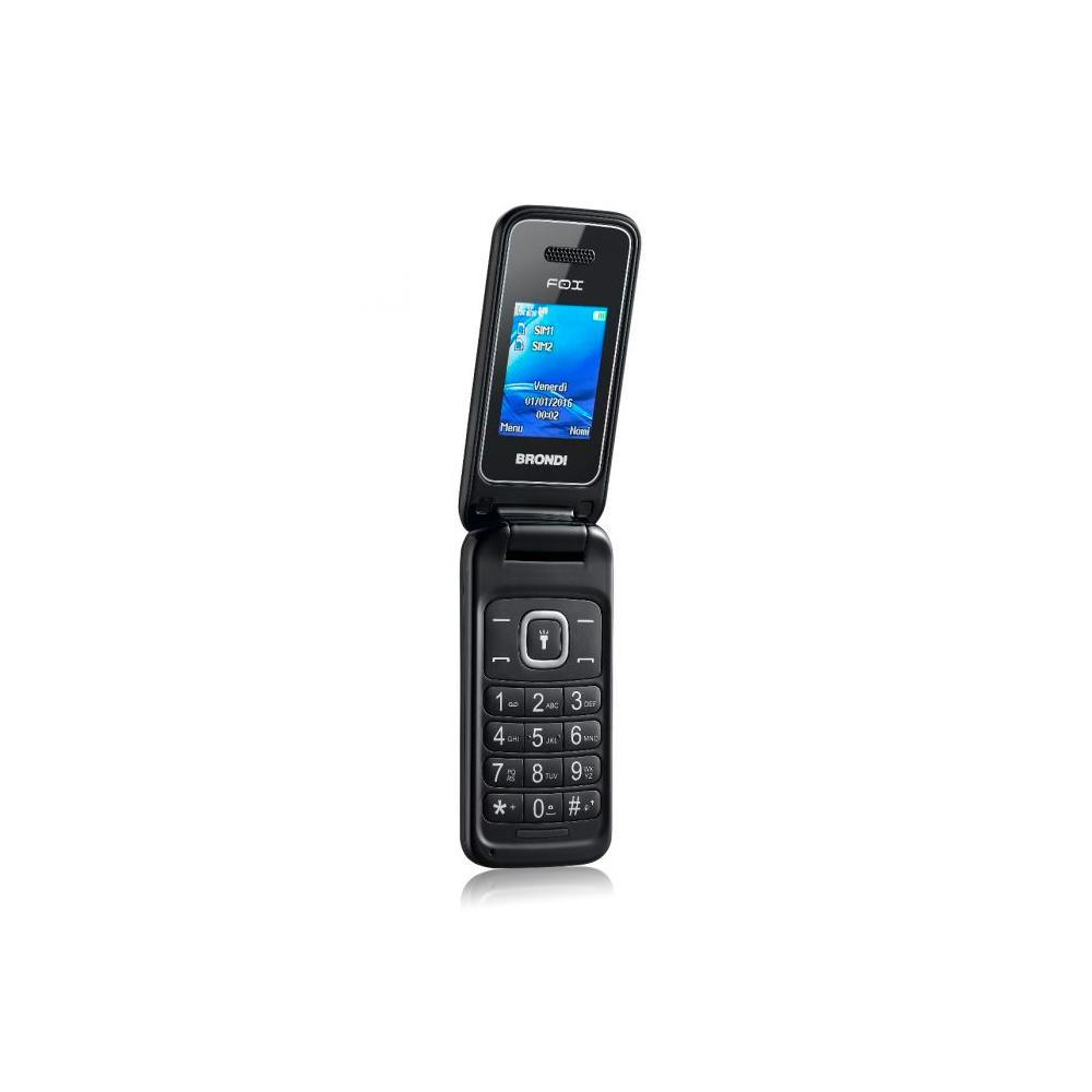 Telefono Cellulare Brondi fox gsm con apertura a conchiglia nero dualsim foto 4