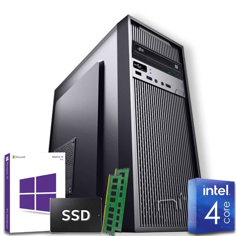 Pc desktop intel quad core 16gb ram ddr4 ssd 1tb windows 10 con licenza wifi
