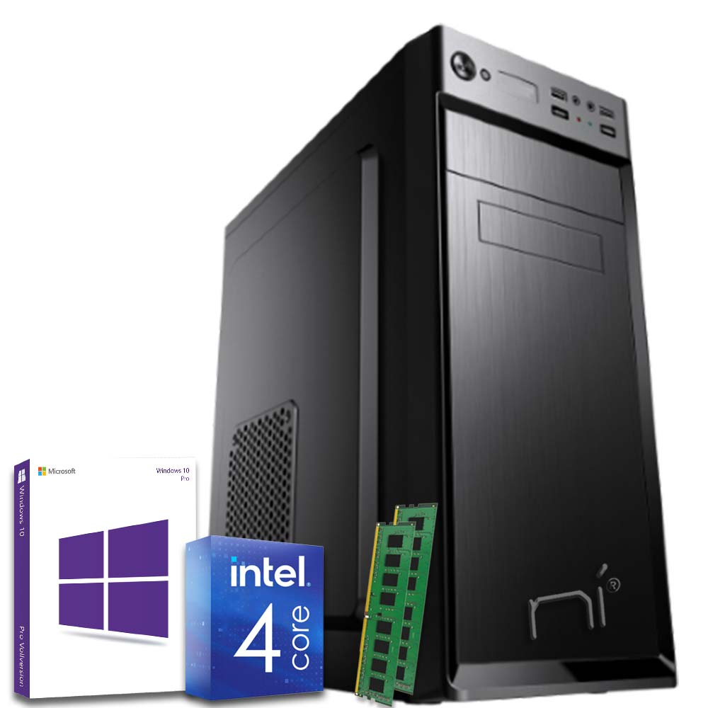 Pc fisso windows 10 con licenza intel quad core 16gb ram ddr4 hard disk 1tb wifi