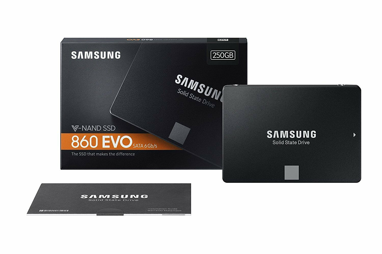 Hard disk stato solido SSD Samsung 860 EVO 250GB SATA 3 da 2,5