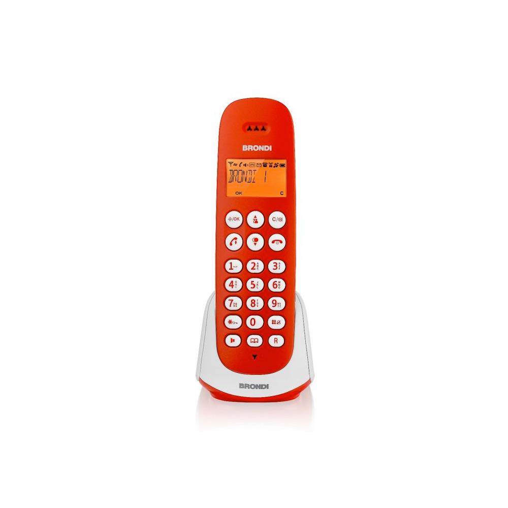 Telefono cordless adara bianco e rosso vivavoce sveglia 20 memorie 10 suonerie foto 2