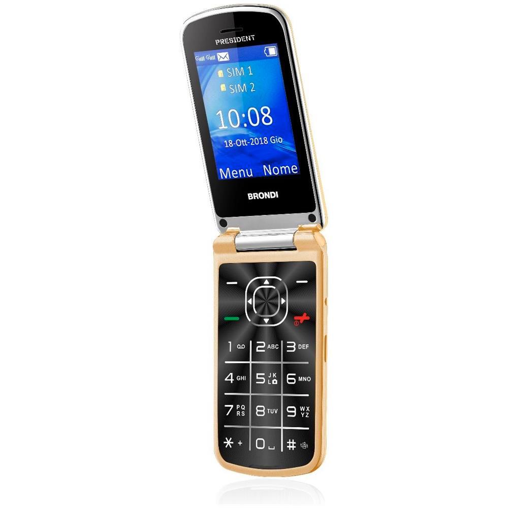 Cellulare president gold dual sim design Ultra Sottile e con Icone LED sul Flip foto 3