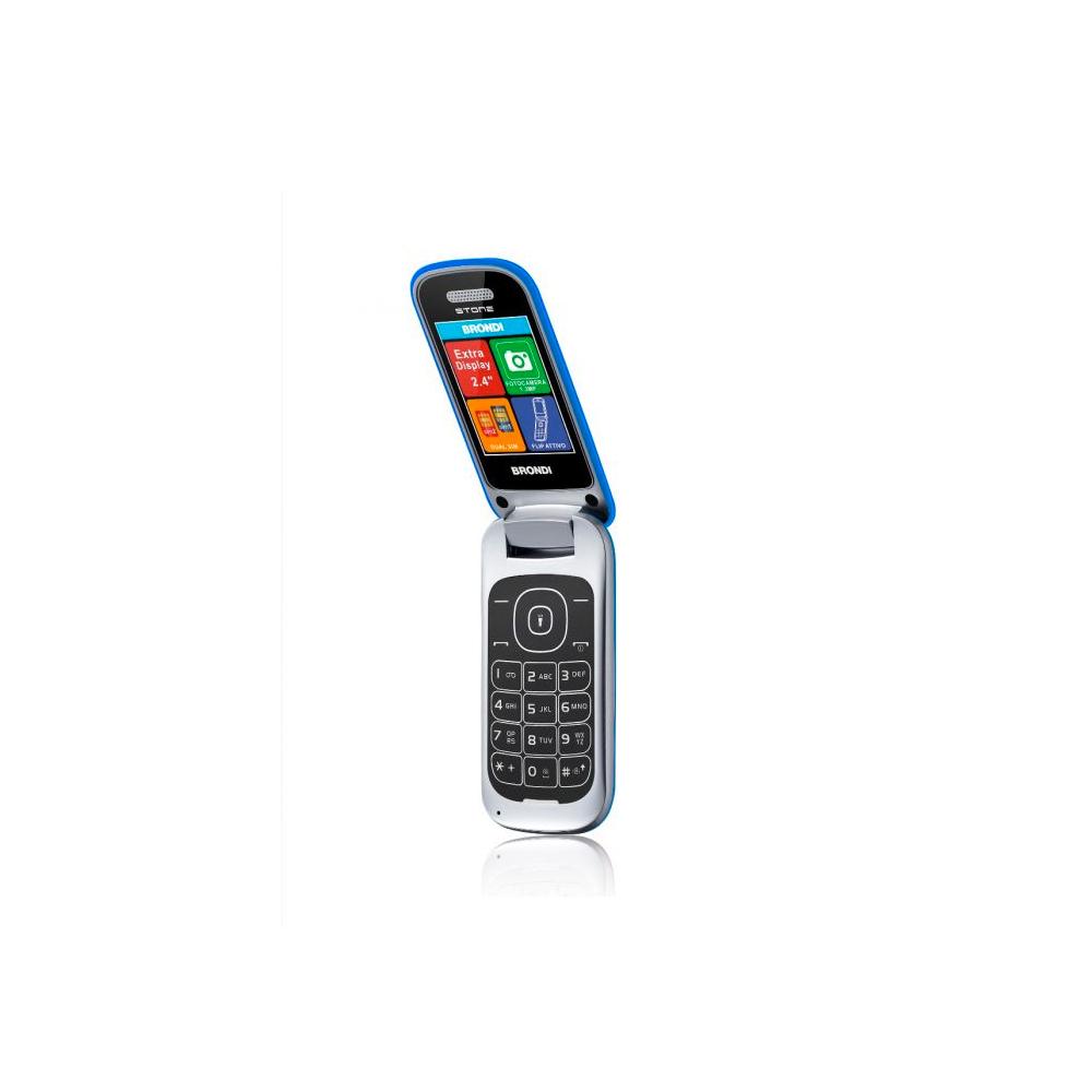 Telefono Cellulare Brondi stone gsm con apertura a conchiglia azzurro dualsim foto 5
