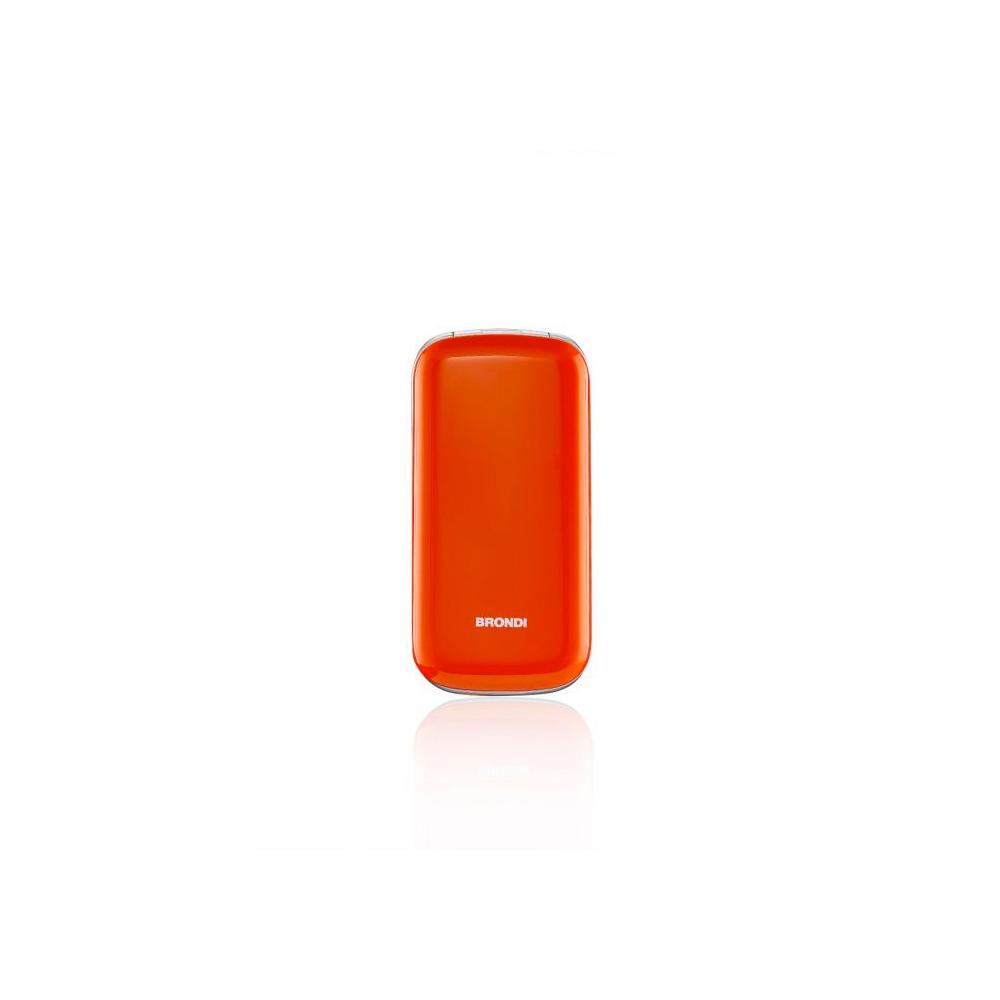Telefono Cellulare Brondi stone gsm con apertura a conchiglia arancione dualsim foto 3