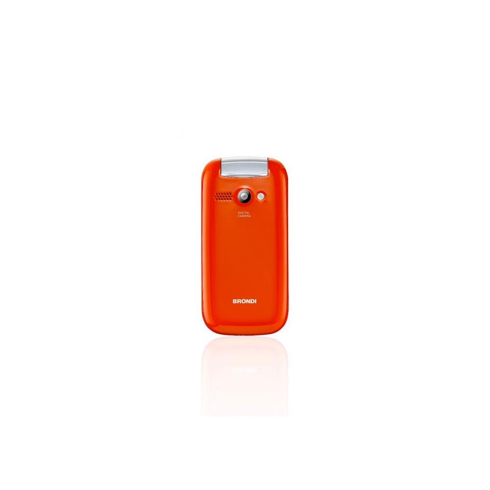Telefono Cellulare Brondi stone gsm con apertura a conchiglia arancione dualsim foto 6