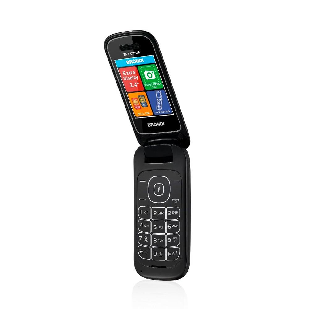 Telefono Cellulare Brondi stone gsm con apertura a conchiglia nero dualsim foto 3