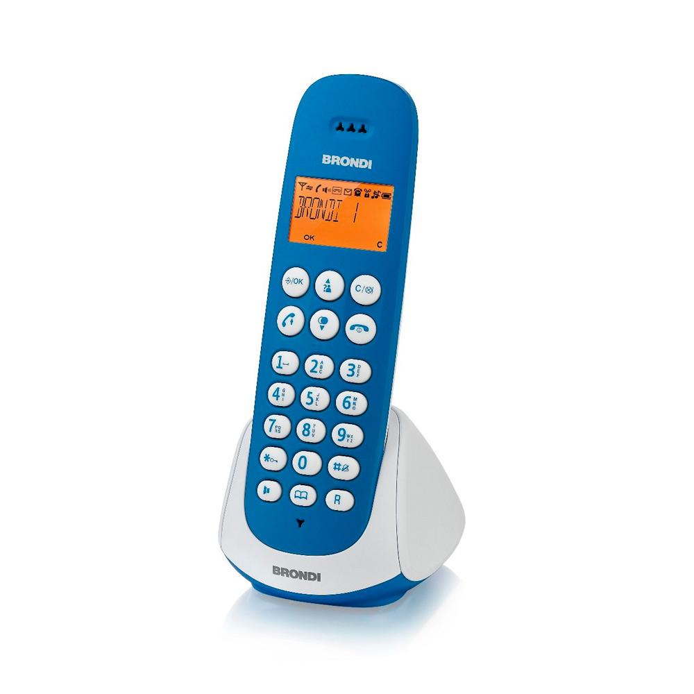 Telefono cordless adara bianco e blu vivavoce sveglia 20 memorie 10 suonerie foto 3