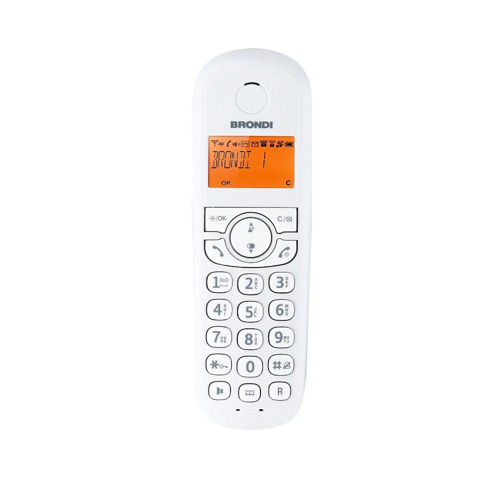 Telefono cordless manta bianco e nero vivavoce sveglia 20 memorie 5 suonerie foto 5