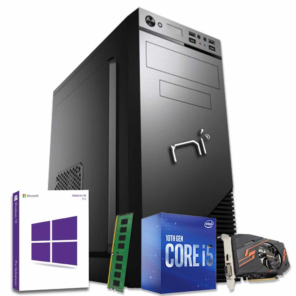 Computer fisso Windows 10 Intel i5-10400 8gb ram ssd 240gb nvidia gt-1030 2gb foto 2