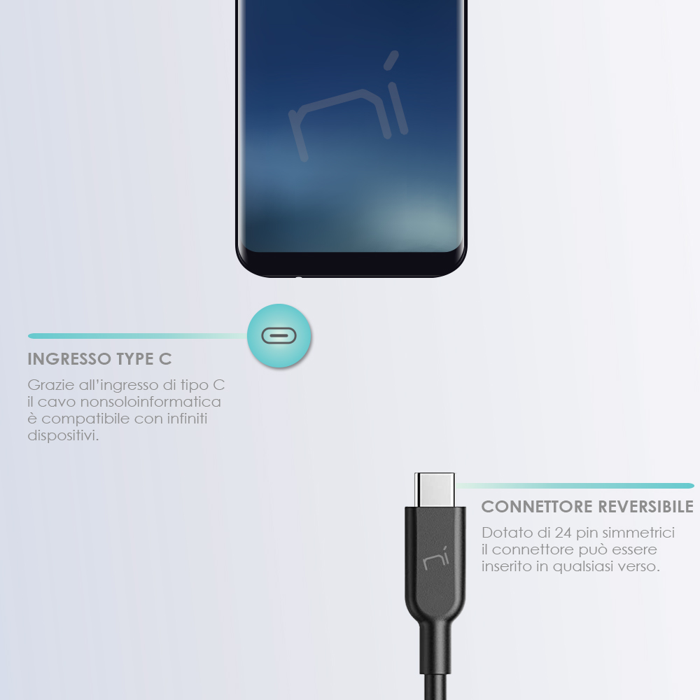 Cavo type-c ricarica rapida trasferimento dati per Samsung Huawei Xiaomi ecc foto 3