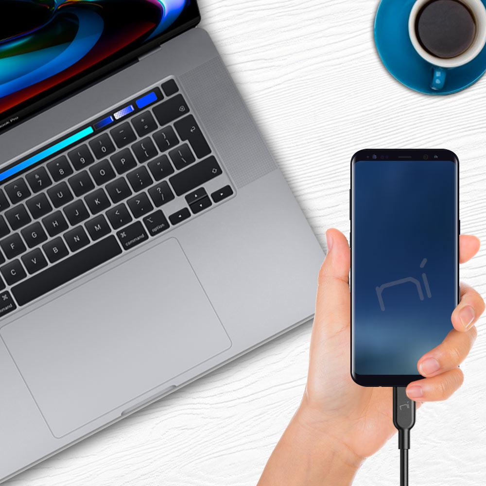 Cavo type-c ricarica rapida trasferimento dati per Samsung Huawei Xiaomi ecc foto 6