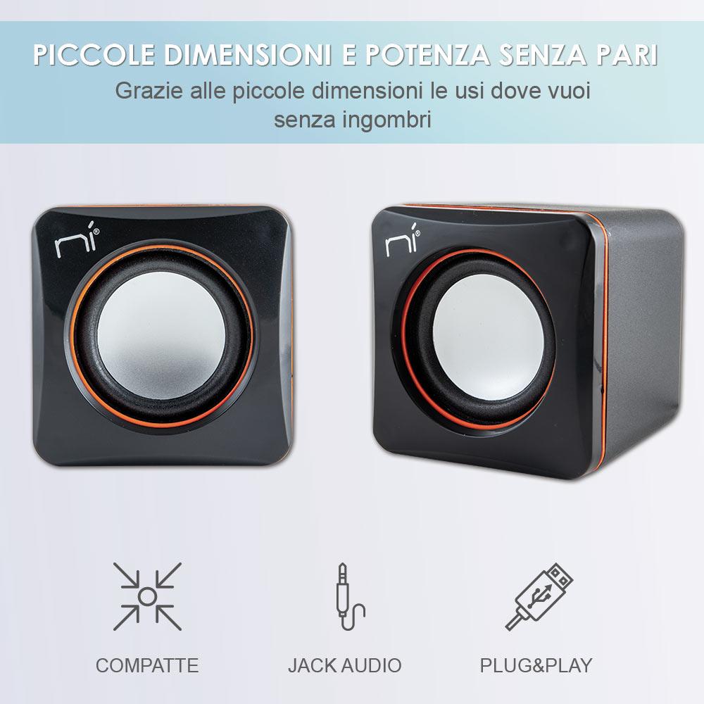 Casse per pc usb altoparlanti con suono dinamico con jack da 3,5 mm foto 3