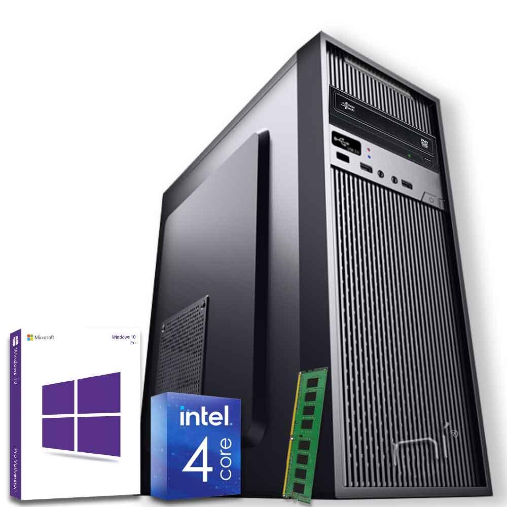 Pc Desktop Windows 10 con licenza Intel quad core 8gb ram DDR4 HDD 500gb WiFi foto 2
