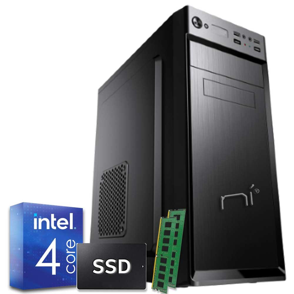 Pulsar pc fisso veloce intel quad core 16gb ram ddr4 ssd 480gb wifi windows 10
