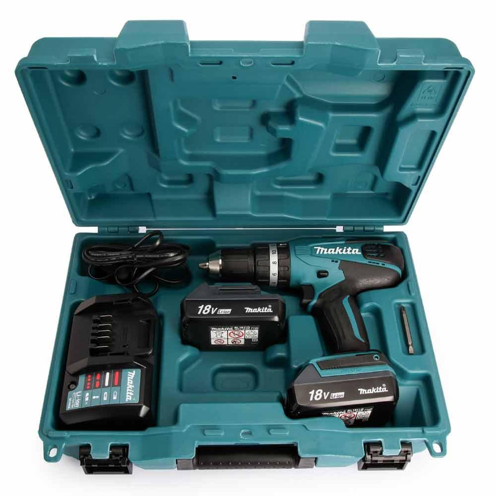 Trapano Makita HP457DWE avvitatore a percussione 2 batterie incluse Li-ion 18v foto 4