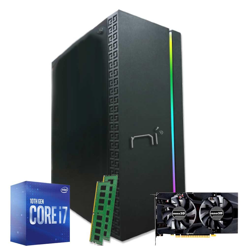Pc Desktop Thunder Intel Core i7-10700 16GB ram DDR4 ssd 240gb Nvidia GTX 1050ti foto 2