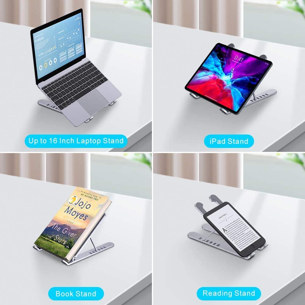 Supporto pc portatile e tablet con 6 livelli regolazione in alluminio foto 6