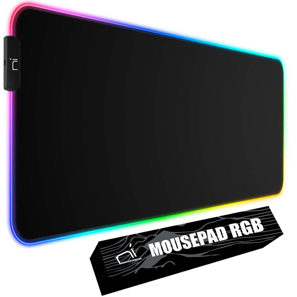 Tappetino mouse rgb xl 800x300x3mm da gaming grande per scrivania antiscivolo