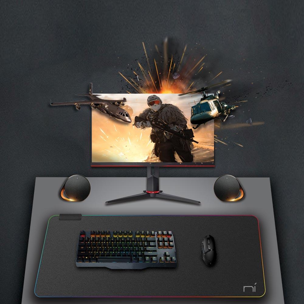 Tappetino mouse RGB xl 800x300x3mm da gaming grande per scrivania antiscivolo foto 6