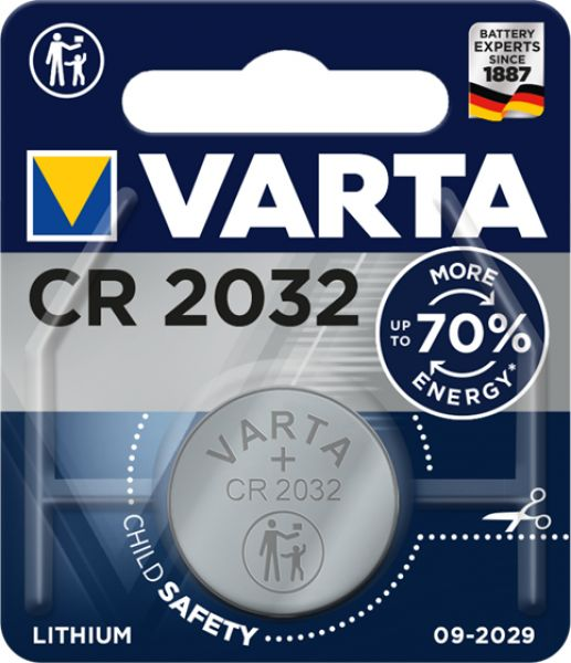 BATTERIA TAMPONE VARTA 1PZ CR2032 LITIO