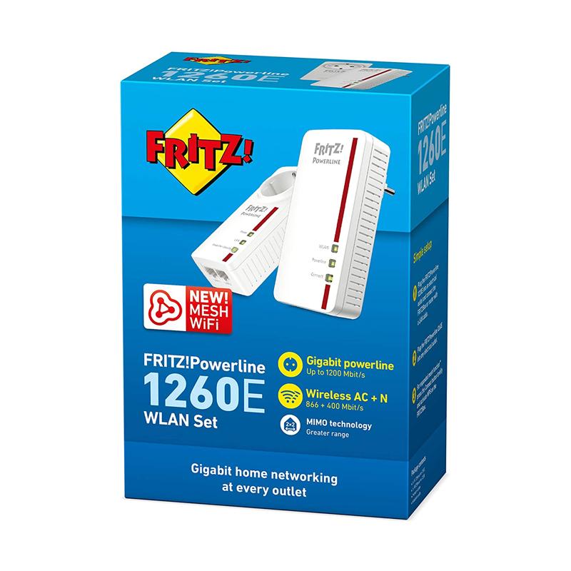 POWERLINE FRITZ 1260E KIT 2 PZ LAN + WIRELESS AV1200