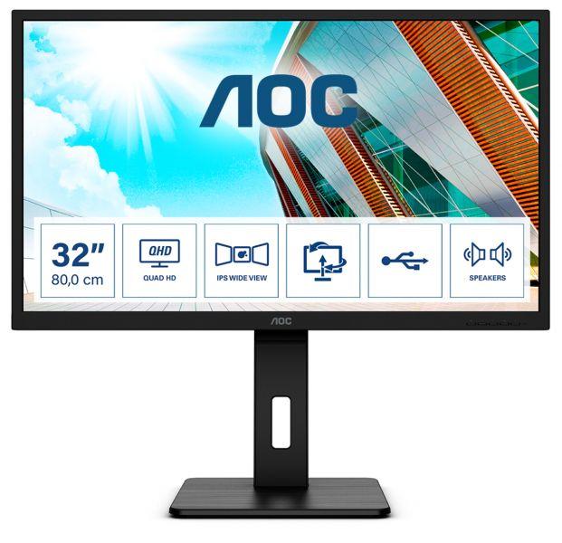 MON 31,5 IPS HDMI DP QHD MM 4MS AOC Q32P2 foto 2