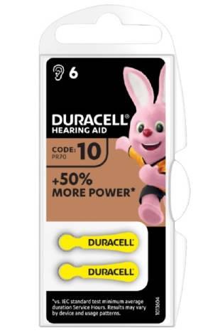 Duracell activeair batterie acustiche medical da10 6pz