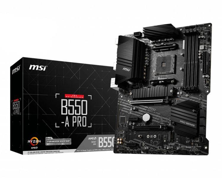 MB MSI B550-A PRO AM4 RYZEN9 4D4 6S3 2M.2 U3.2 GBLAN H/DP RAID foto 2