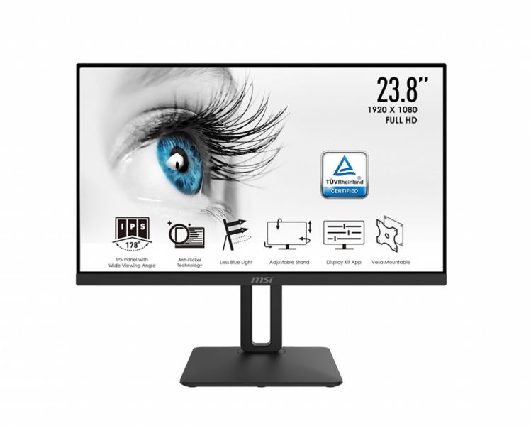 MON 23,6IPS HDMI VGA LED 16:9 PVT MSI PRO MP242P 5MS FHD BK MM PIVOT