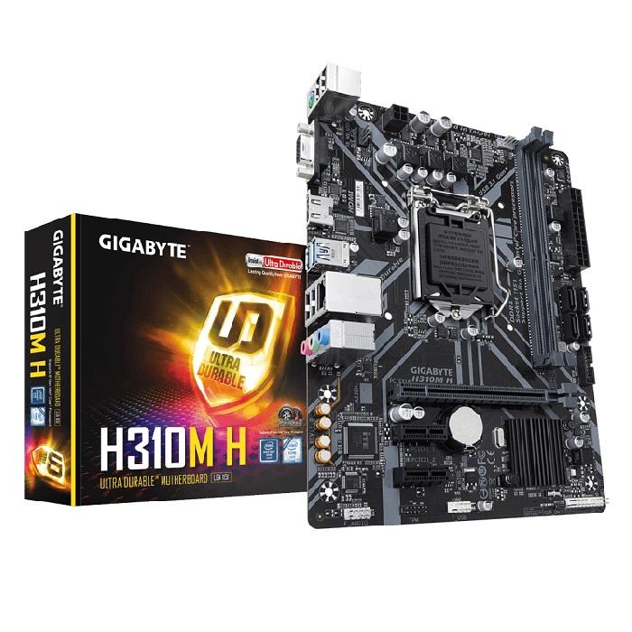 MAINBOARD GIGABYTE H310M-H - DDR4 SOCKET 1151 + VGA Micro ATX foto 2