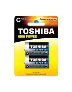 Toshiba batterie mezza torcia lr14gcp bp-2 c alcaline 2pz