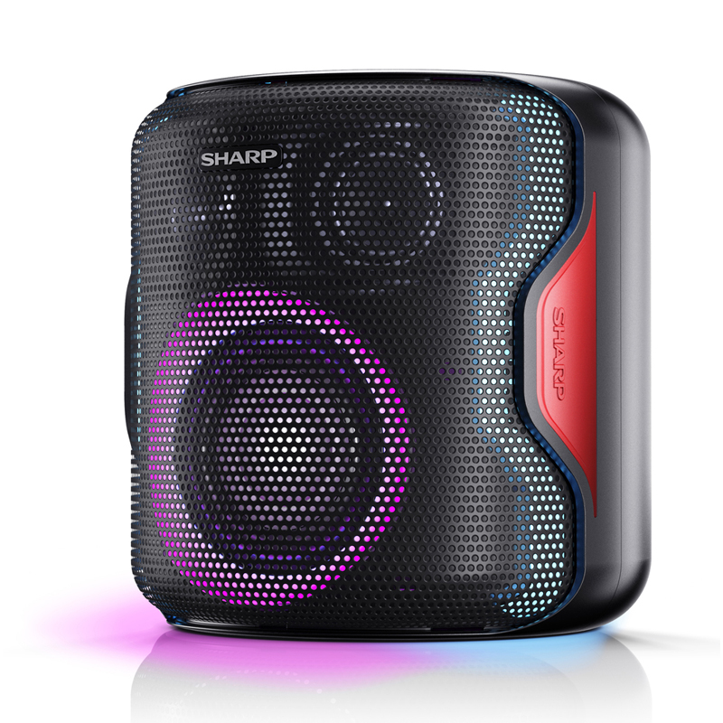 PARTY SPEAKER SYSTEM SHARP PS-919 - 130W BLUETOOTH RADIO 2 USB AUX IN EQUALIZER foto 2