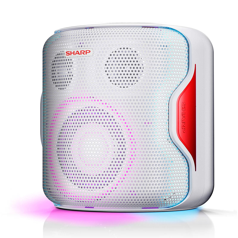 PARTY SPEAKER SYSTEM SHARP PS-919 WHITE - 130W BLUETOOTH RADIO 2 USB AUX IN EQUALIZER foto 2