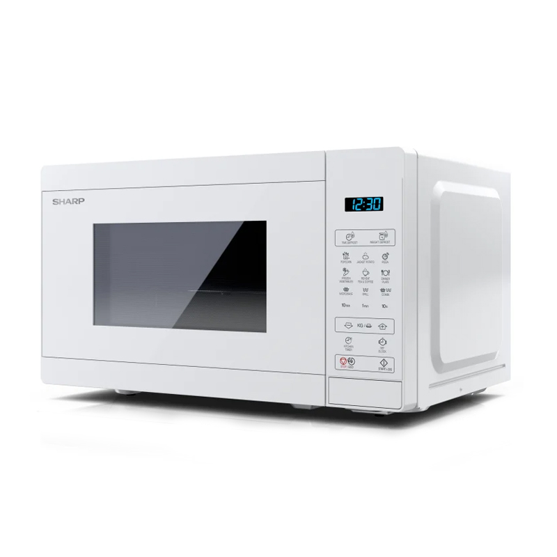 FORNO A MICROONDE DIGITALE SHARP YC-MG02EC 20LT 1000WATT GRILL DEFROST TIMER 11 LIVELLI DI COTTURA - FULL WHITE