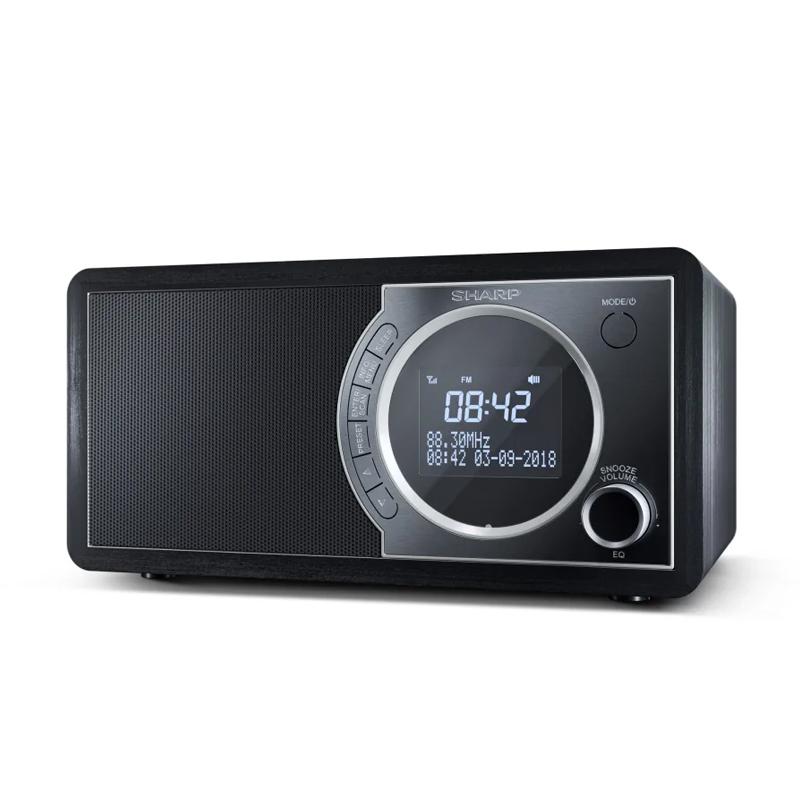 RADIO DIGITALE SHARP DR450 BLACK - DAB DAB+ FM RADIO RDS BLUETOOTH 6W 60 STAZIONI MEMORIZZABILI AUX IN