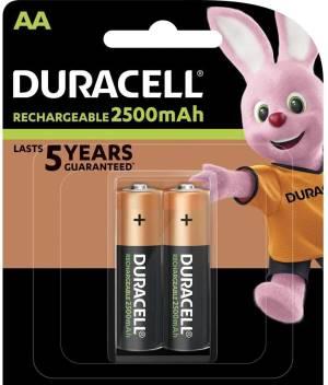 Duracell ricaricabili batterie stilo 2500mah hr6 dx1500 aa 2pz