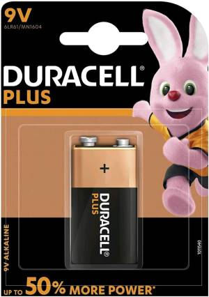 Duracell plus batteria transistor 6lr61 mn1604 9v 1pz