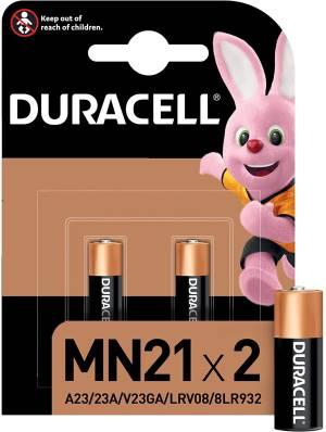 Duracell specialistiche batterie mn21 a23/23a/v23ga/lrv08/8lr932 2pz