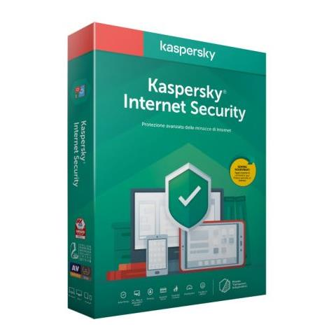 SOFTWARE KASPERSKY INTERNET SECURITY 1PC - 1 ANNO RINNOVO