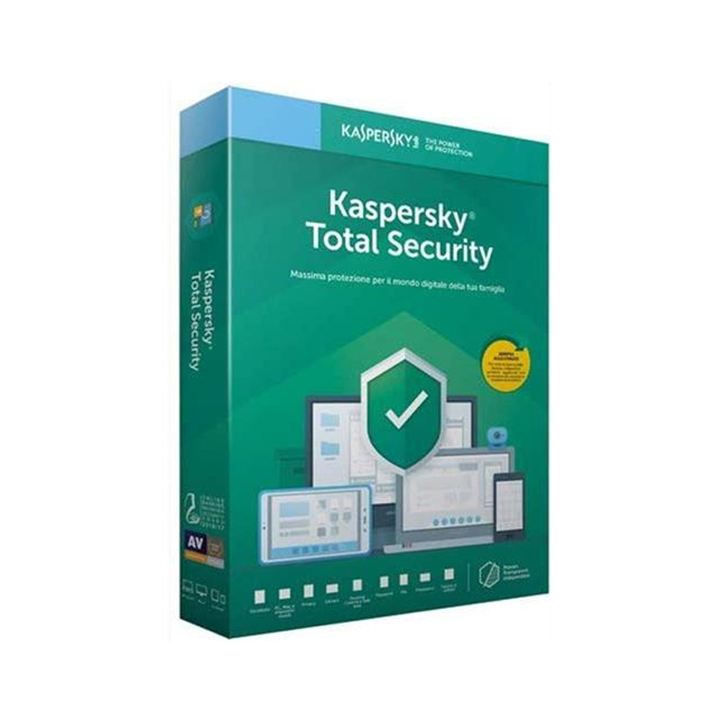 SOFTWARE KASPERSKY TOTAL SECURITY MULTI-DEVICE 3PC - 1 ANNO