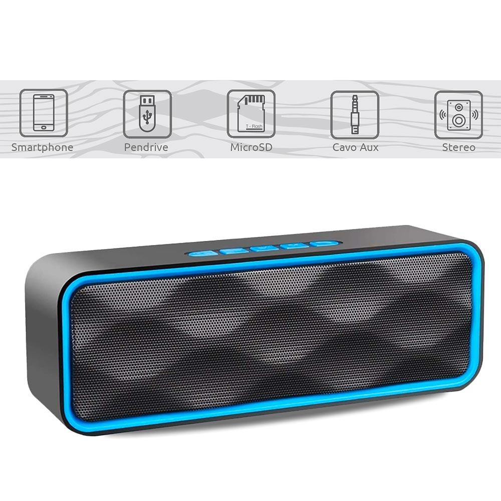 Altoparlante portatile con vivavoce Integrato speaker bluetooth, usb, sd, aux foto 3