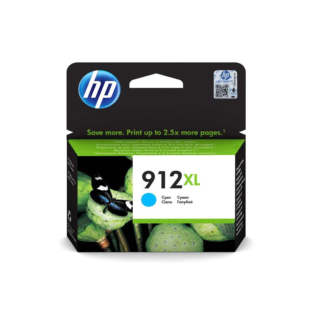 Cartuccia originale HP 912XL colore ciano ad alte prestazioni 3YL81AE foto 2