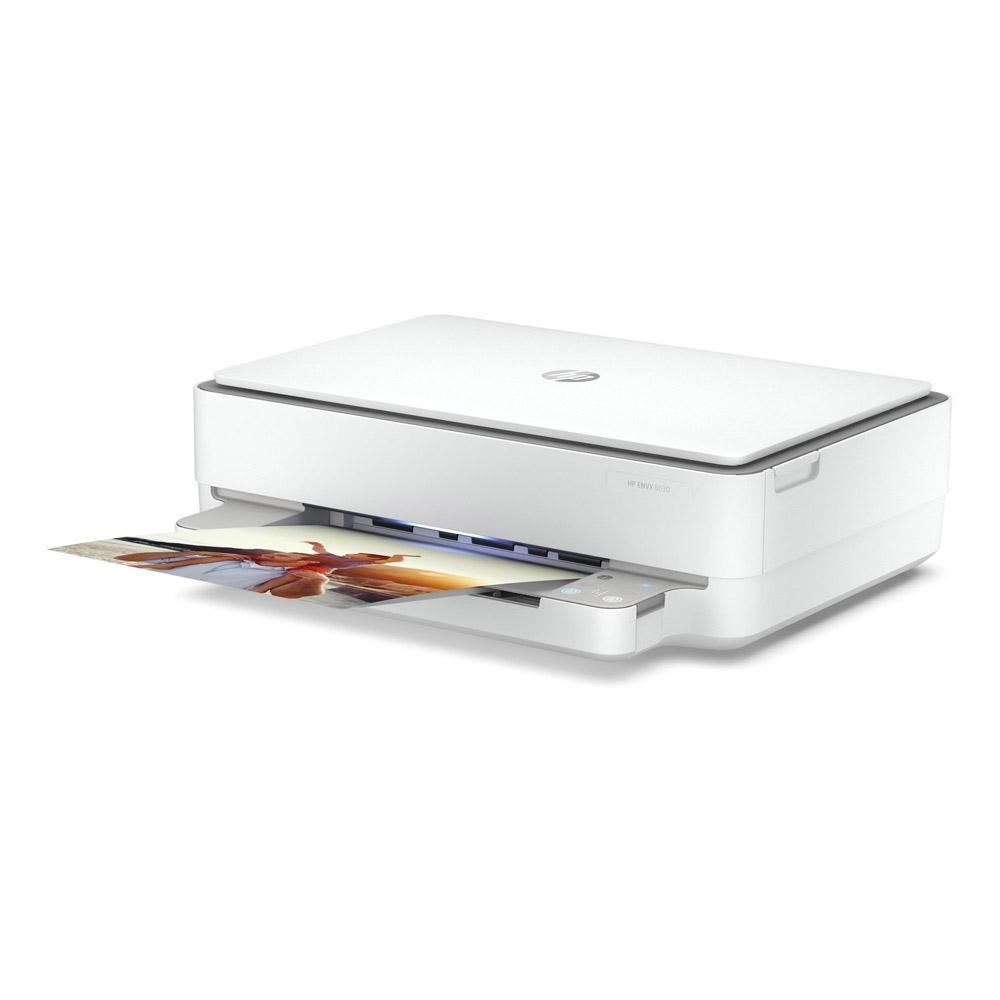 Stampante HP Envy 6030 AiO inkjet wi-fi fronte retro automatico stampa A4,A5,A6  foto 4