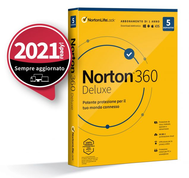 INT.SEC. 5DEV 1Y 2020 50GB NORTON 360 DELUXE foto 2