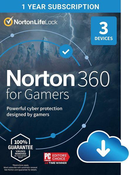 INT.SEC. 3DEV 1Y 2020 50GB NORTON 360 FOR GAMERS ATTACH