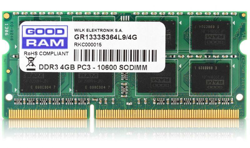 DDR3 4GB 1600 MHZ SO-DIMM CL11 GOODRAM PC3-12800 512X8