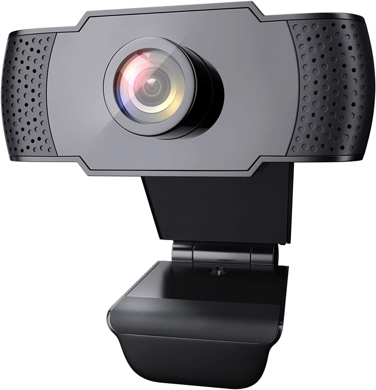 Webcam 1080P con Microfono, Webcam PC Laptop Desktop Computer USB 2.0 con Clip
